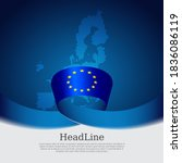 european union flag with mosaic ...   Shutterstock .eps vector #1836086119