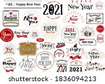 happy new year's card character ... | Shutterstock .eps vector #1836094213