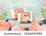 horizontal cosmetics ad... | Shutterstock .eps vector #1836095989