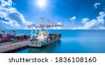 Container Ship Deep Seaport...