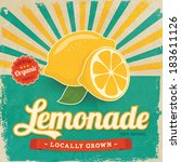 Colorful Vintage Lemonade Label ...
