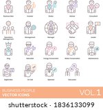 business people icons including ... | Shutterstock .eps vector #1836133099
