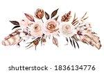 flowers watercolor  floral...   Shutterstock . vector #1836134776