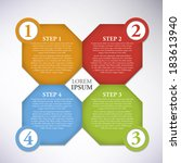 simply infographic step by step ... | Shutterstock .eps vector #183613940