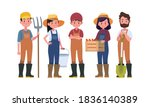 farmers and harvesting... | Shutterstock .eps vector #1836140389