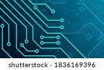 circuit technology background... | Shutterstock .eps vector #1836169396