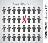 think different symbol  on gray ... | Shutterstock .eps vector #183617144
