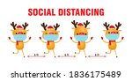 merry christmas for new normal... | Shutterstock .eps vector #1836175489