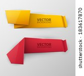 vector colorful banners set  | Shutterstock .eps vector #183617870
