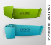 vector colorful banners set  | Shutterstock .eps vector #183617873