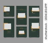 trendy editable template for... | Shutterstock .eps vector #1836181699