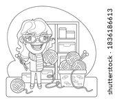 cartoon illustration of a... | Shutterstock .eps vector #1836186613