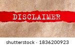 Disclaimer Appearing Behind...