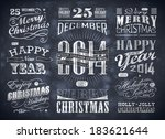 christmas and happy new year... | Shutterstock . vector #183621644