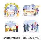 demonstration  protest people... | Shutterstock .eps vector #1836221743