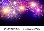 firework and christmas themed... | Shutterstock .eps vector #1836223909