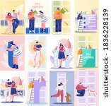 pet owners different people... | Shutterstock .eps vector #1836228139