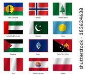 set  flags of world sovereign... | Shutterstock .eps vector #183624638