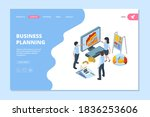 business planning landing.... | Shutterstock .eps vector #1836253606