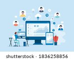 people business connecting... | Shutterstock .eps vector #1836258856
