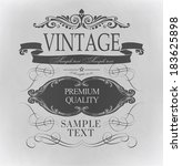 typography  calligraphic design ... | Shutterstock . vector #183625898