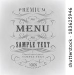 vintage ornament calligraphic... | Shutterstock . vector #183625946