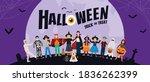 halloween party background ... | Shutterstock .eps vector #1836262399