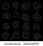 abstract modern  polygonal... | Shutterstock . vector #183626993
