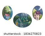 Watercolor Illustrations Set Of ...