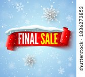 final sale banner with red... | Shutterstock .eps vector #1836273853