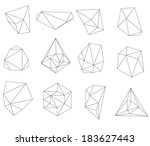 abstract modern  polygonal... | Shutterstock . vector #183627443