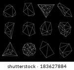 abstract modern  polygonal...   Shutterstock . vector #183627884