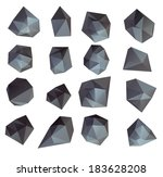 abstract modern  polygonal... | Shutterstock . vector #183628208
