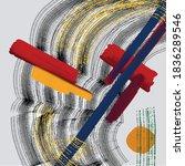 minimalist vector hand paint... | Shutterstock .eps vector #1836289546