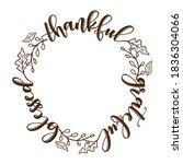 thankful grateful blessed  ... | Shutterstock .eps vector #1836304066
