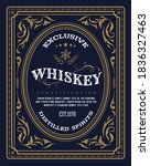 vintage border label retro hand ... | Shutterstock .eps vector #1836327463