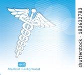 medical background .vector | Shutterstock .eps vector #183632783