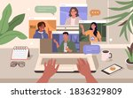 people character working remote ... | Shutterstock .eps vector #1836329809