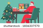 santa claus sitting at the desk ... | Shutterstock .eps vector #1836337570