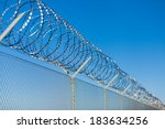 Coiled Razor Wire With Its...