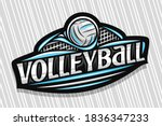 Vector Logo For Volleyball...