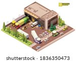 vector isometric warehouse...   Shutterstock .eps vector #1836350473
