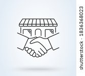 handshake and successful real...   Shutterstock .eps vector #1836368023