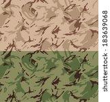 desert camouflage seamless... | Shutterstock .eps vector #183639068