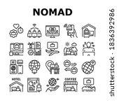 digital nomad worker collection ... | Shutterstock .eps vector #1836392986