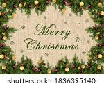 merry christmas greeting card... | Shutterstock . vector #1836395140
