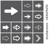 set of flat simple web icons ...   Shutterstock .eps vector #183639650