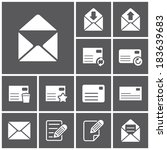 set of flat simple web icons ... | Shutterstock .eps vector #183639683