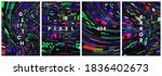 set of bright vector abstract... | Shutterstock .eps vector #1836402673