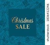 christmas sale discount hand... | Shutterstock .eps vector #1836412246
